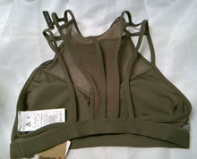 Load image into Gallery viewer, Reebok Franchise strappy BRA, Smoky Taupe, Small 11028