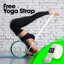 Load image into Gallery viewer, PERFECT SIZE Dharma Yoga Wheel + Strap for Balance Flexibility and Stretching