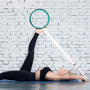 PERFECT SIZE Dharma Yoga Wheel + Strap for Balance Flexibility and Stretching