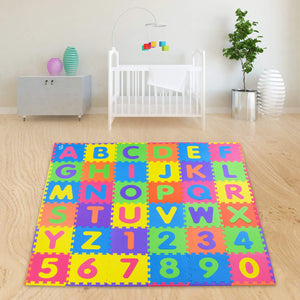 "HUGE SOFT Alphabet Puzzle Play Mat - 36 Pieces + Border + 1/2"" Thick - EVA Foam"