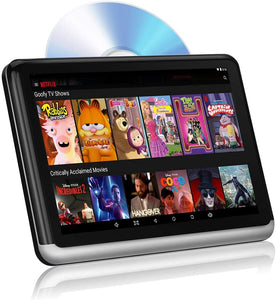 "DDAuto 10.1"" Android Headrest DVD Player with Battery for Portable Use"