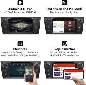 "Eonon GA9165B BMW E90/E91/E92/E93 Android 8.0 Car DVD Radio Player 7"" HD Touchscreen In-Dash DVD"