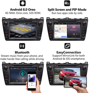 Eonon GA9198B2 Mazda 6 2009-2012 Android 8.0 Oreo Car DVD Player Car GPS Navigation