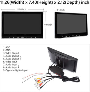 Eonon C0318 2019 (PAIR) 11.6 Inch 1080P HD Digital Monitor Car Headrest DVD Player Monitors HDMI Remote Control USB SD