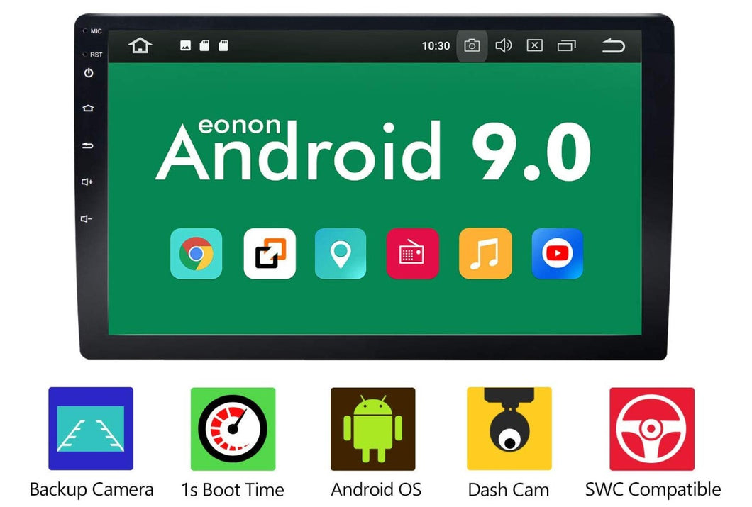 Eonon GA2178 Car Stereo Double Din Radio 10.1 Inch GPS Navigation Android Auto and Carplay