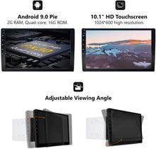 Load image into Gallery viewer, Eonon GA2178 Car Stereo Double Din Radio 10.1 Inch GPS Navigation Android Auto and Carplay