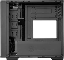 Load image into Gallery viewer, SilverStone Technology SST-LD01B Micro-ATX Computer Case with Three Tempered Glass Panels and Stainless Steel Accents