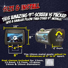 Load image into Gallery viewer, PAIR - Autotain HERO-Y 9 inch Car TV Touch Screen Best Headrest DVD Player Monitor BLACK