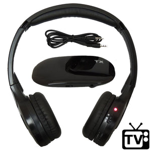 Best TV Headphone Wireless RF for Watching TV - FM Stereo, Kid Size, Adult Size, Dual Channel