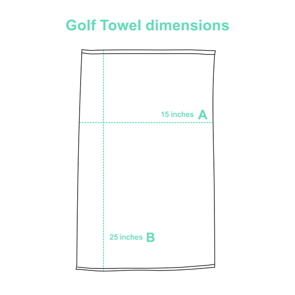 Golf Towel size