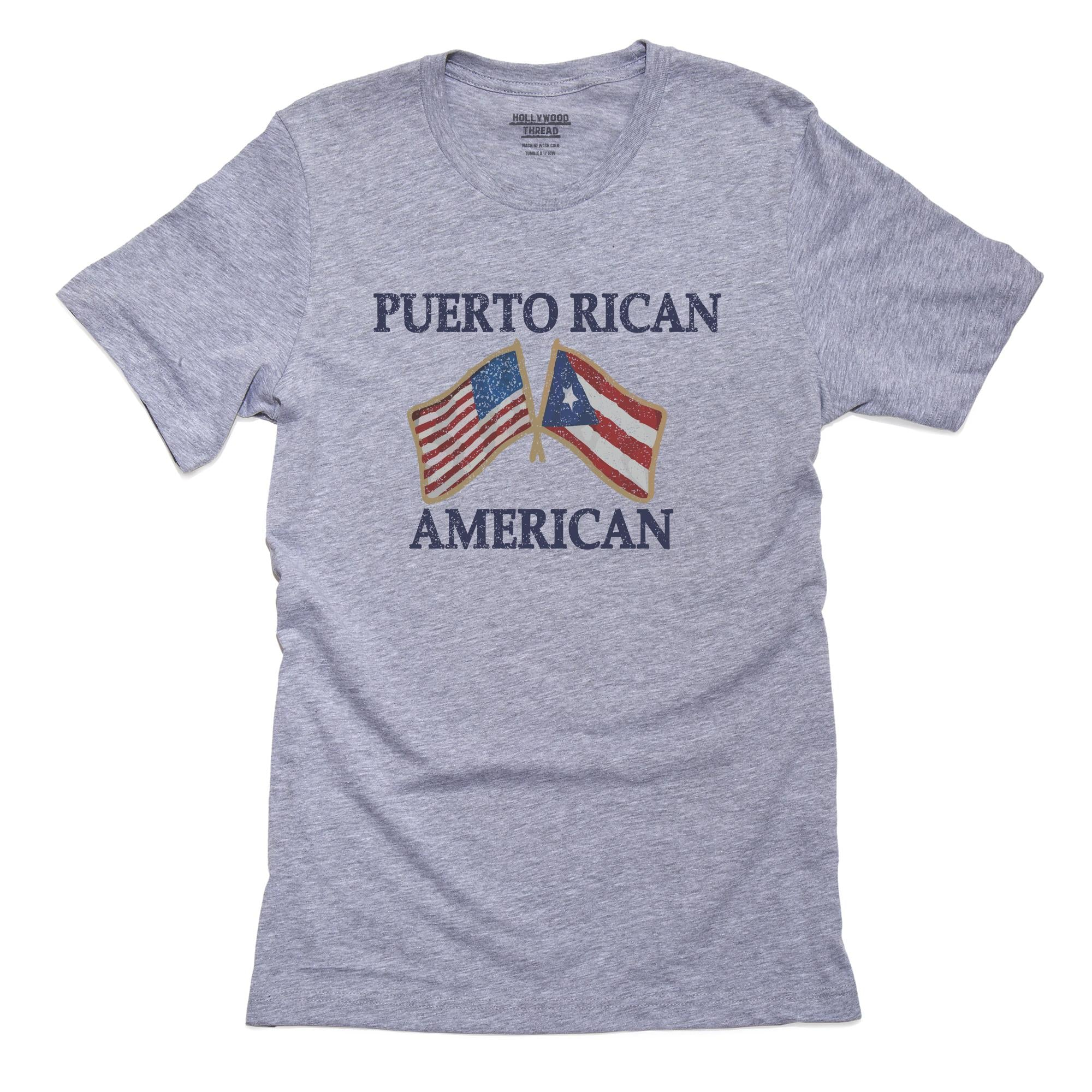 Proud Puerto Rican American Country Flags T-Shirt, Framed Print, Pillow, Golf Towel