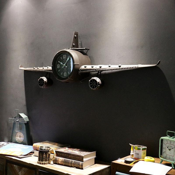 Industrial Retro Aircraft Propeller Wall Clock - unscandy