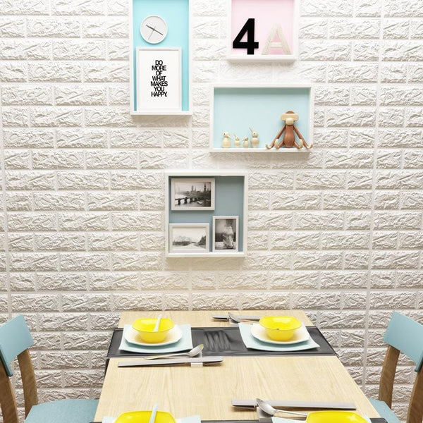 3D Simulation Brick Wallpaper Stickers - unscandy
