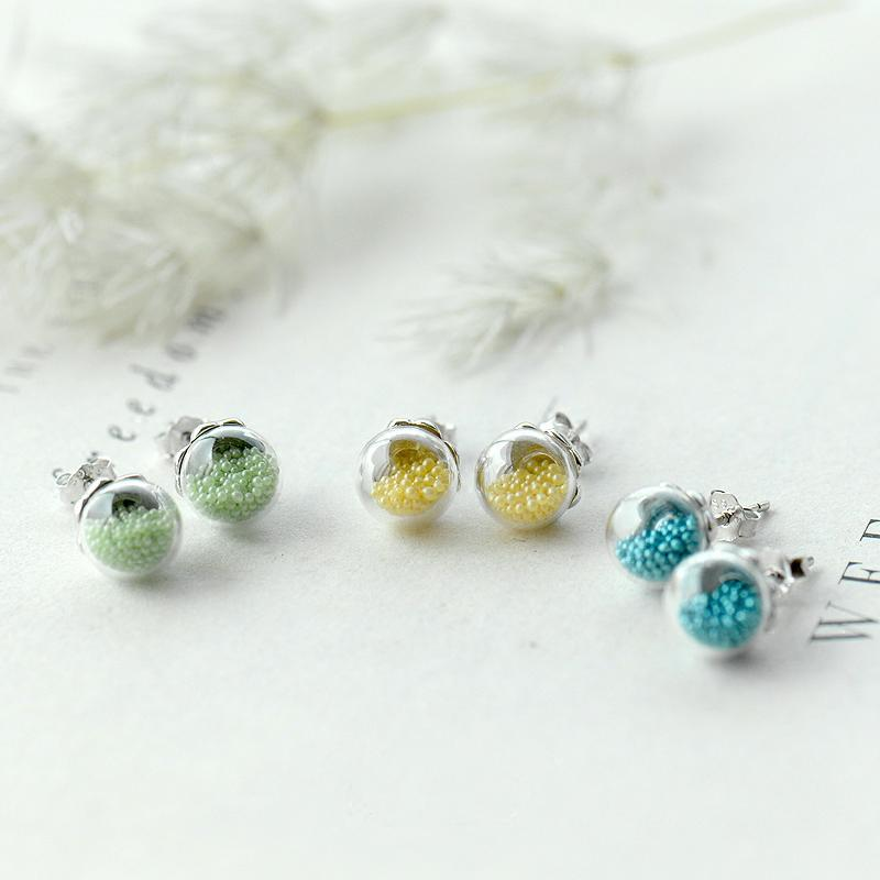 Sweet Bubbles Original Design Personalized Stud Earrings