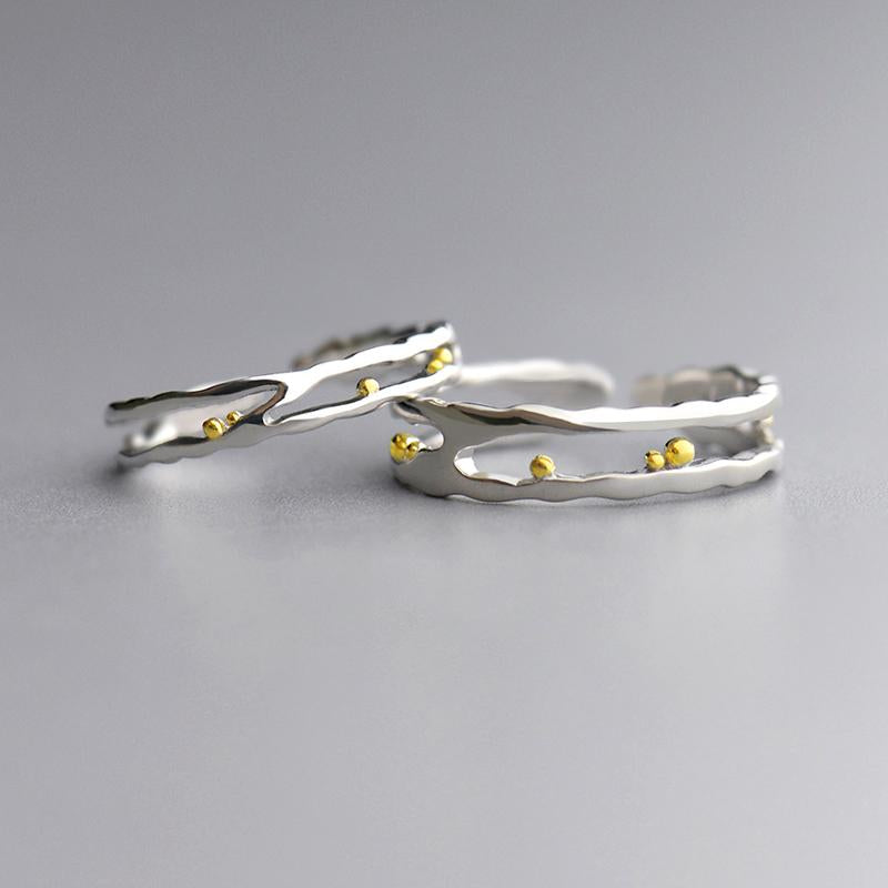 Leisure Personalized Adjustable Open End Couple Ring