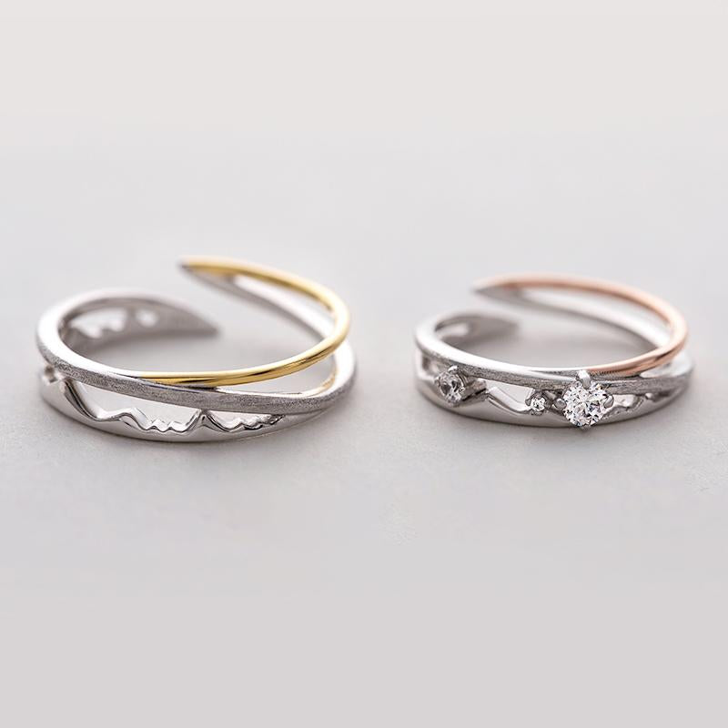 Never Betray Personalized Adjustable Open End Couple Ring