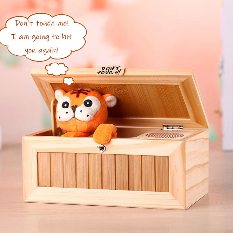 Don't Touch Useless Box Leave Me Alone Machine-Cute Tiger - unscandy
