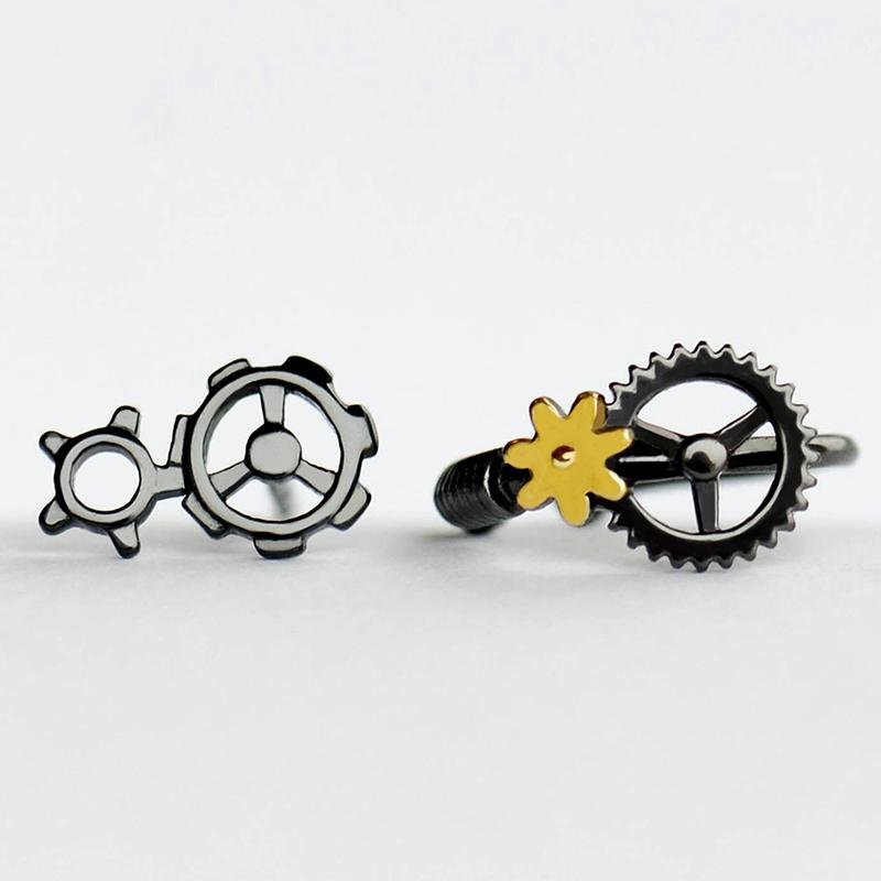 Steam Punks Original Design Personalized Clip On Earrings