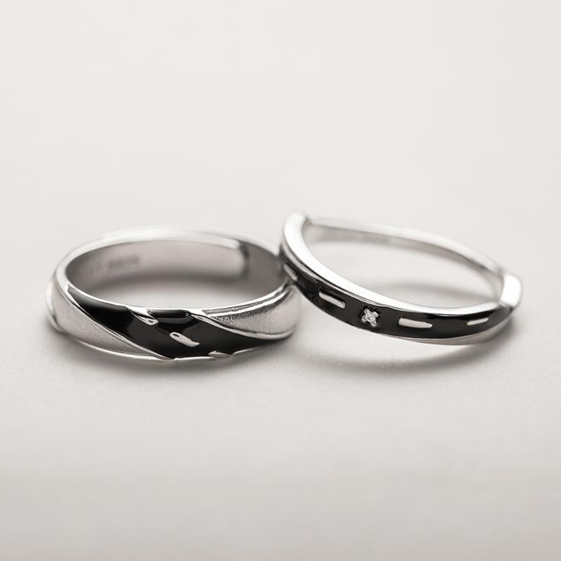 Endless Road Personalized Adjustable Open End Couple Ring