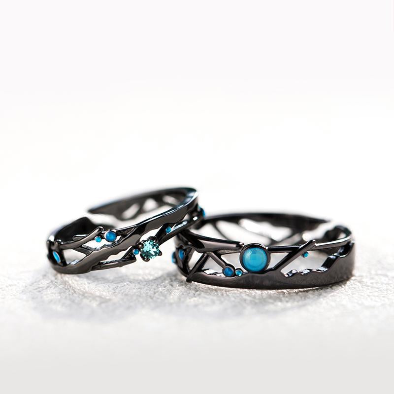 Meeting Personalized Adjustable Open End Couple Ring
