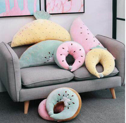 Fruit Pillow Sofa Pillow Neck Cushion Lumbar Cushion Bedroom Decor