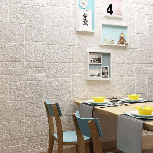 1pcs Brick Anti-collision 3d Self-adhesive Wallpaper - unscandy