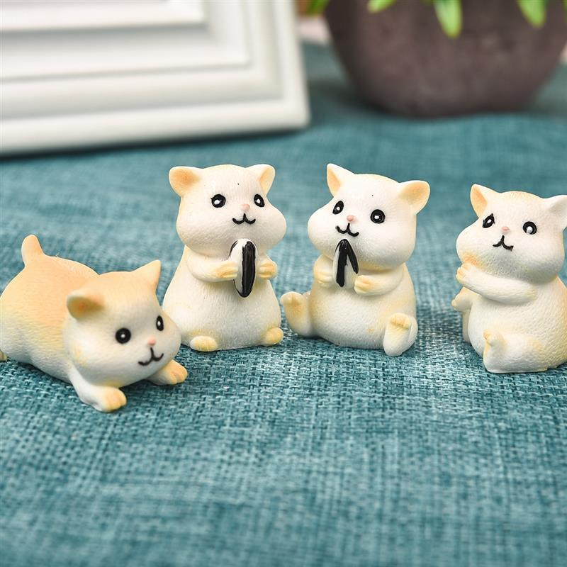 Cute Hamster Animal Figurines Resin Craft Home Decoration