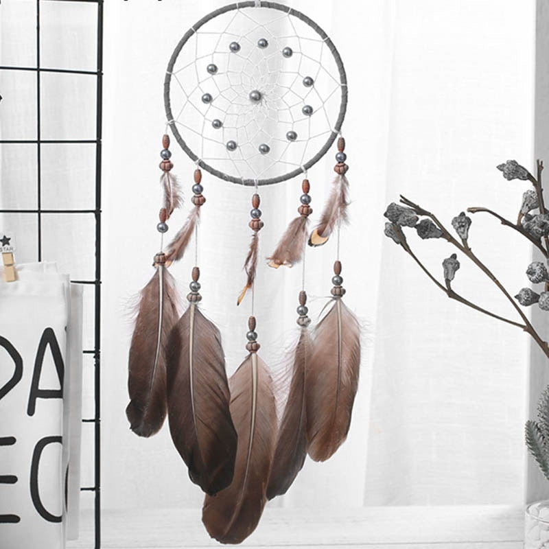 Family Dormitory Wall Decoration Bohemian Feather Dream Catcher
