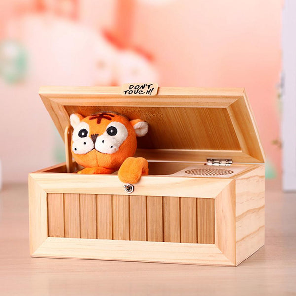 Electronic Sound Toys Wooden Useless Box Funny Toy Gifts for Boy Kids Interactive Toys Stress-Reduction Decompression Voice Toy