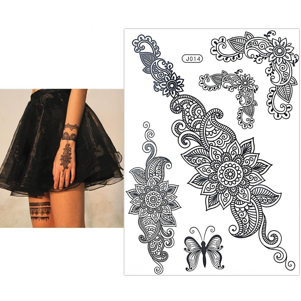Lace Art  Temporary Tattoo - unscandy