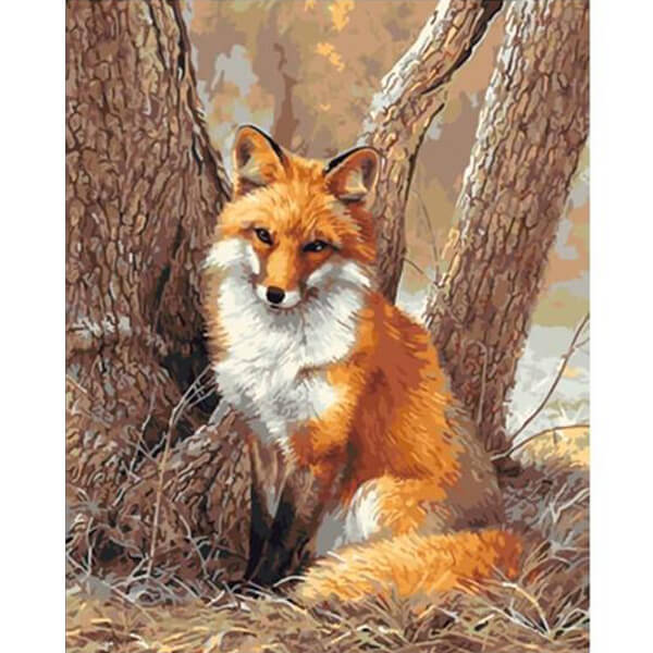 Fox Oil Painting - unscandy