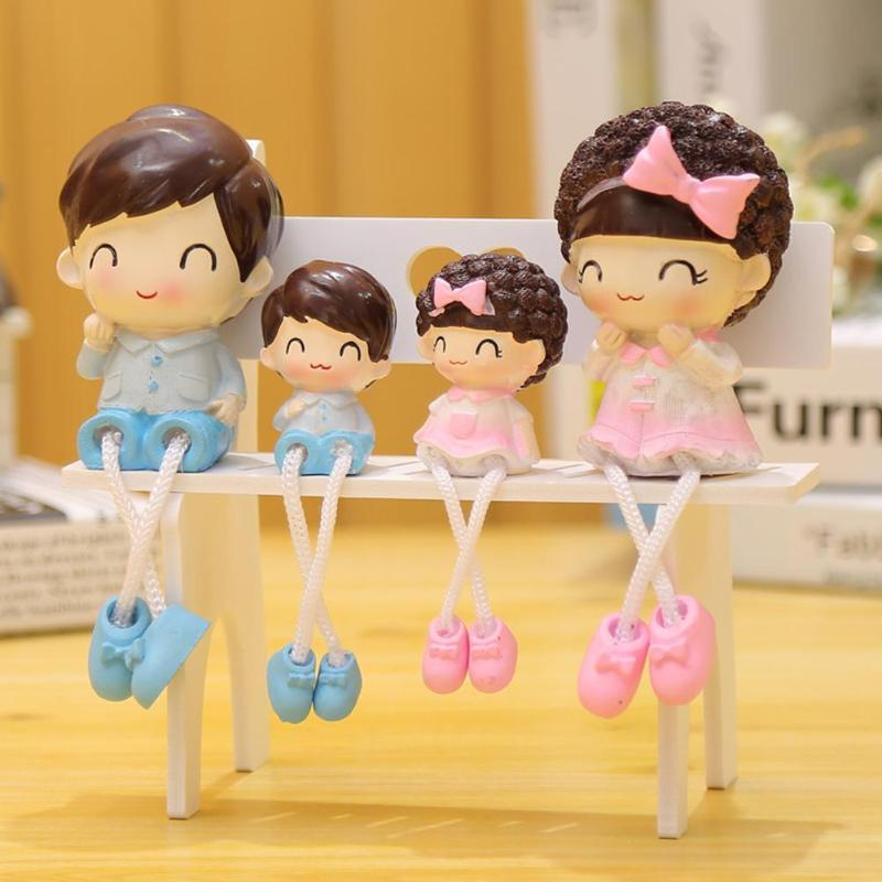 4pcs/set Resin Crafts Foot Hanging Dolls Ornaments decoration