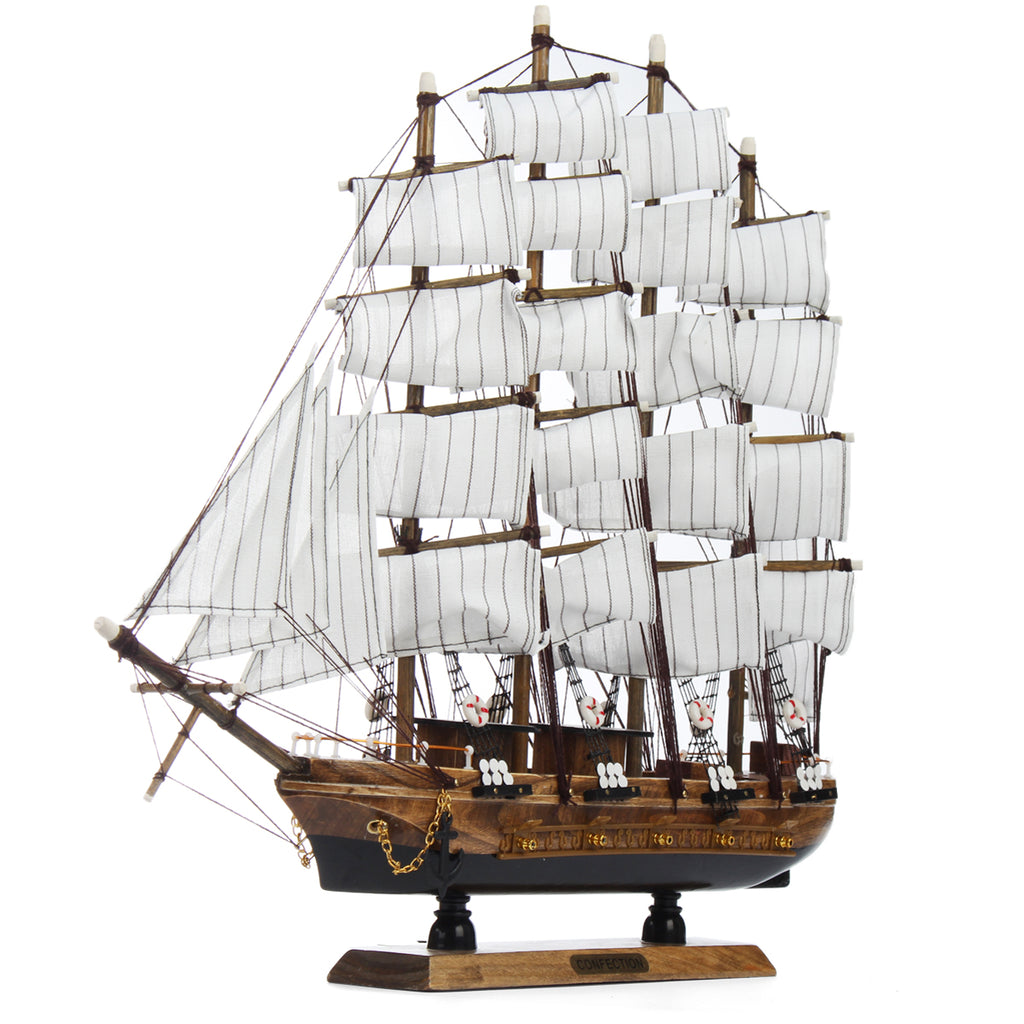 50cm Wooden Sailing Boat Ship Model Home Decor
