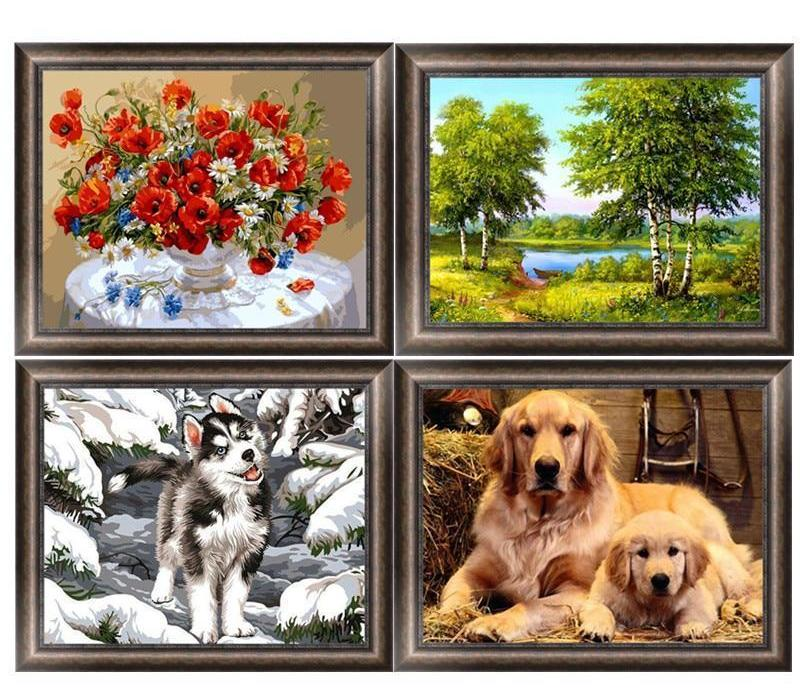 Dog and Landscape DIY Diamond Painting - unscandy