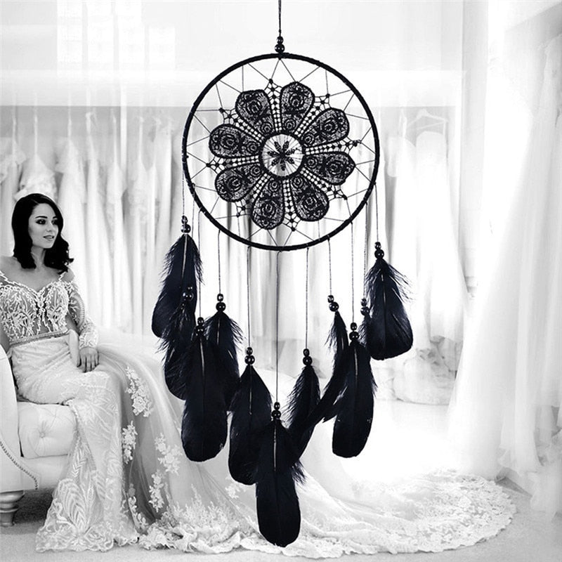 Black Feather Wind Chimes - unscandy