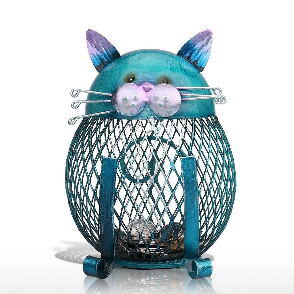 Blue Cat Piggy Bank - unscandy