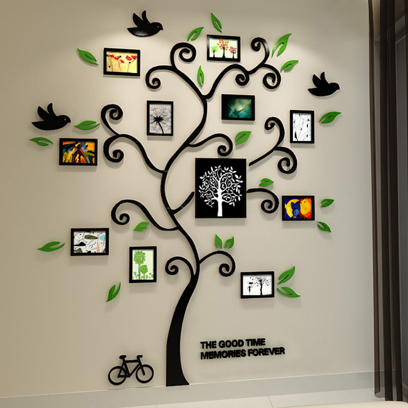 Happy Tree Photo Frame Acrylic Wall Stickers