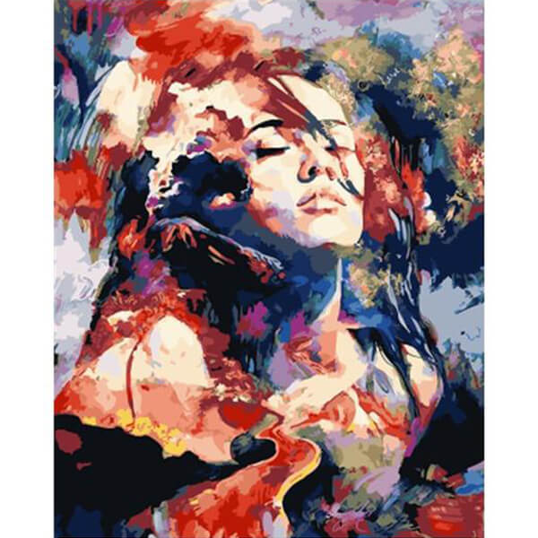 Colourful Lady DIY Painting - unscandy