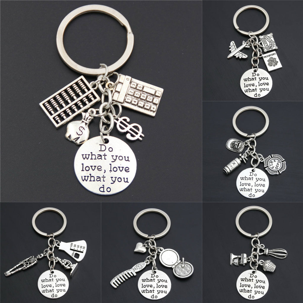"""Do What You Love Love What You Do"" Keyring - unscandy"