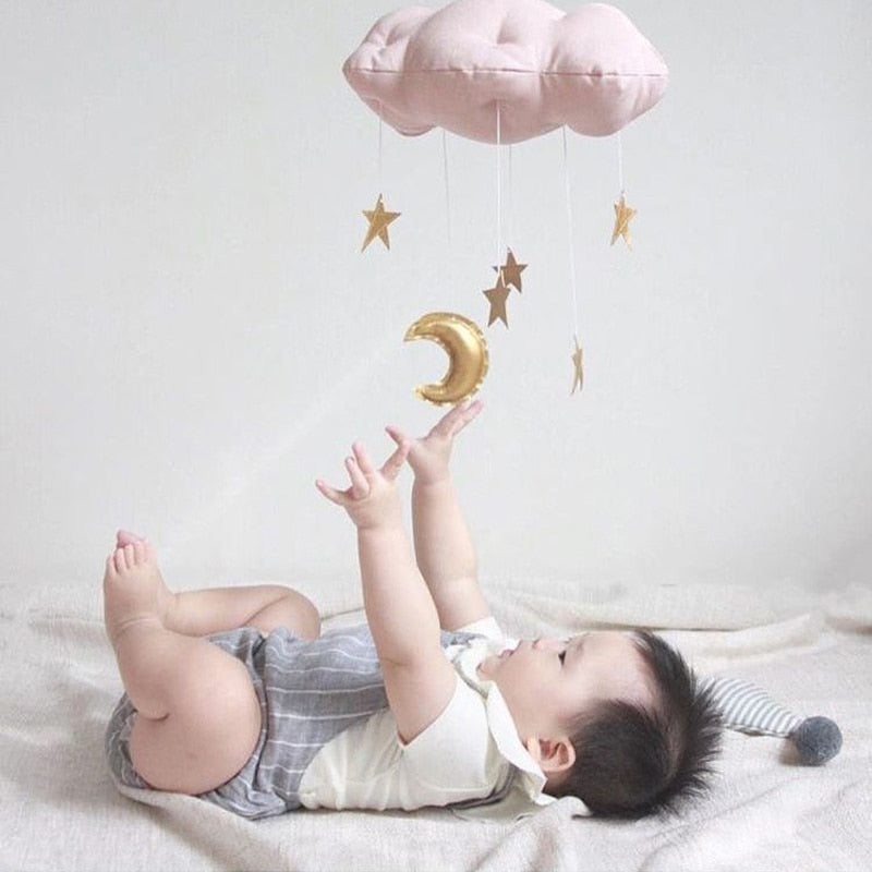 Cotton Cloud Shape Baby Crib Decor - unscandy