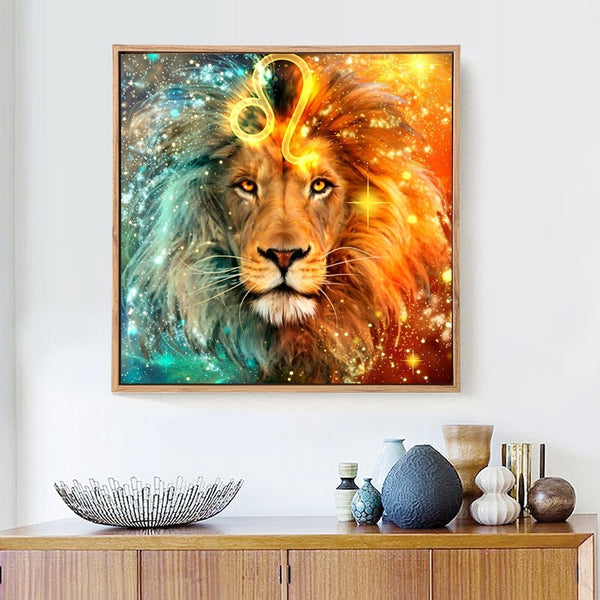 DIY Diamond Embroidery Lion Diamond Painting