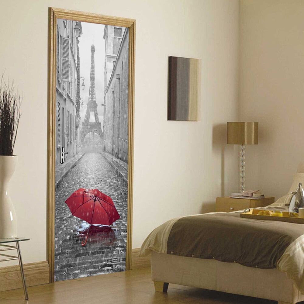 3D Door Stickers Can Be Used As Wallpaper