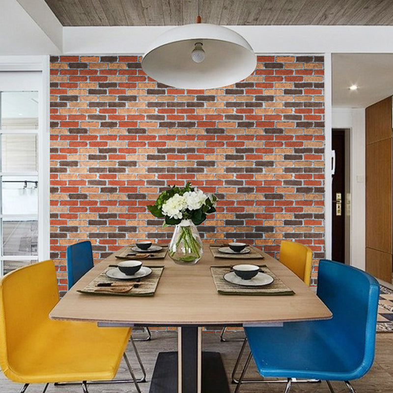 45cm*10m Mixed-color Brick wallpaper