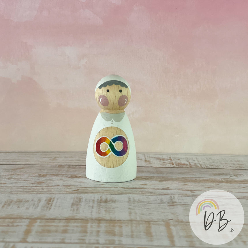 Super-Autie Wooden Doll