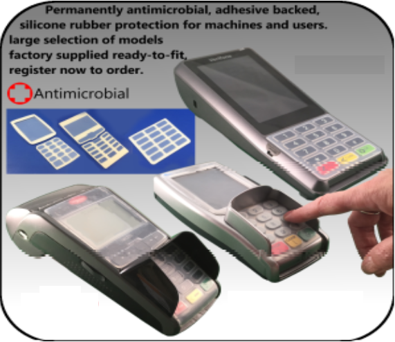 Antimicrobial Covers for Card Machines
