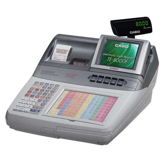 Casio TE-8000 Cash Register (Reconditioned) - Premier Cash Registers