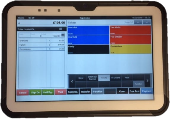 Casio V-T500 Tablet with Cash Register App