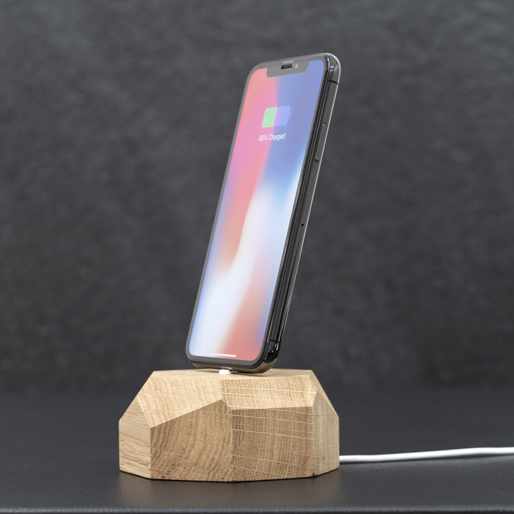 iPhone dock chargeur en bois - Oakywood France