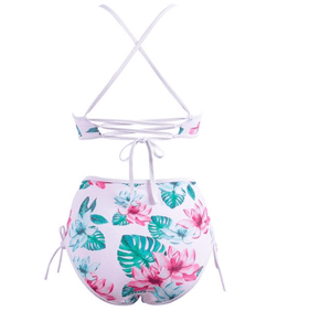 High Waist Floral Bikini Set - Girly Got Style