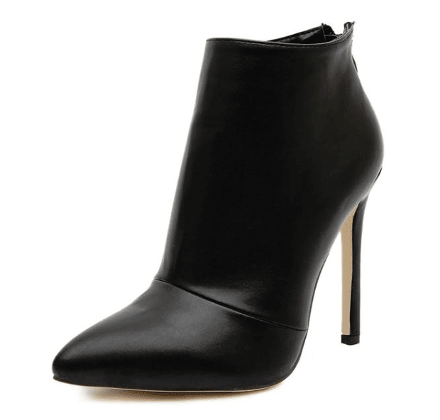 Black Stiletto Ankle Boots - Girly Got Style